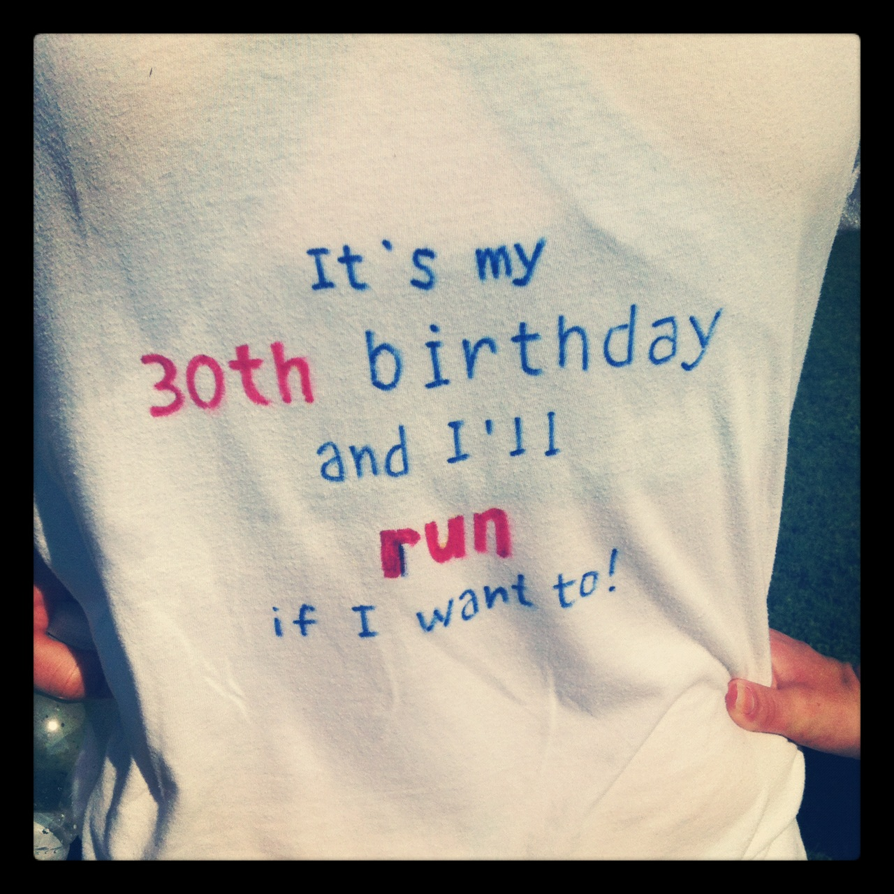 Thanks To The Back Of My Shirt I Got Quite A Very Happy Birthdays While Running