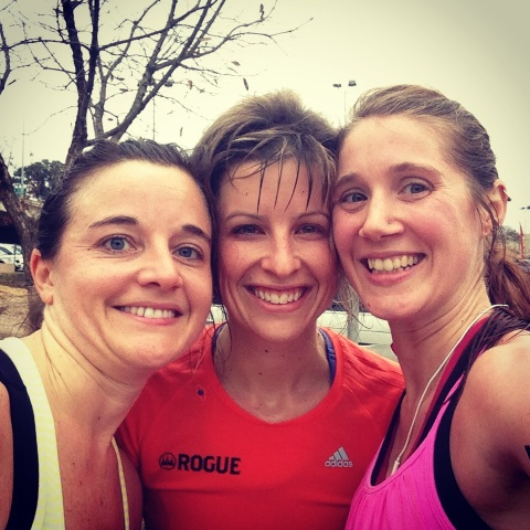 Adriane, Erika and Me - post 18 mile run